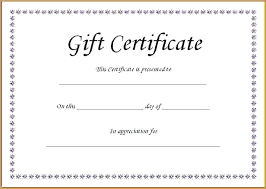 Microsoft Word Gift Certificate Template Free Gift Certificate Template Word Download Literals