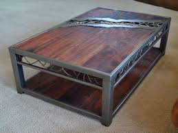 wrought iron and wood furniture. Industrial Metal And Wood Coffee Table Eclectic Tables Wrought Iron Furniture O