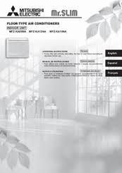 mitsubishi mr slim mfz ka09na manuals mitsubishi mr slim mfz ka09na operating instructions manual