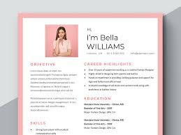 Feminine Resume Template Feminine Cv Microsoft Word Resume Woman Resume Pink Resume Template Fashion Resume Female Resume