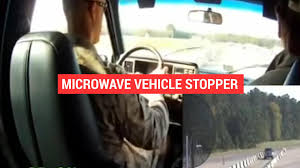 u s nonlethal microwave weapon halts the engine of an approaching car auto