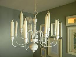 non electric candle chandelier dining room wrought iron