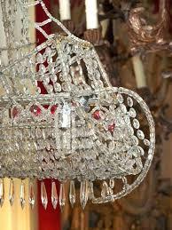breathtaking crystal ship chandelier on wire frame in the form of a crystal ship chandelier image