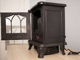 duraflame carleton electric stove side