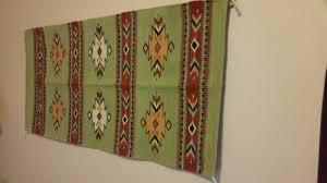 la posada hotel navajo rug wall hanging in room