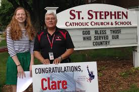 st stephen eighth grader s hero essay places in statewide contest  essay contest jpg
