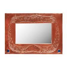 mirror frame outline. GLASGOW SCHOOL ARTS \u0026 CRAFTS COPPER WALL MIRROR, CIRCA 1900 Of Rectangular Outline, The Mirror Frame Outline R