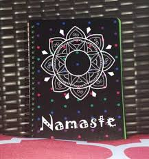 Namaste Polka Dot Personalized Notebook 96 Multi Colored Pages Gifts