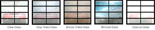frosted glass garage doors full view aluminum sandblast