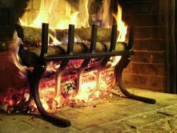 wall of fire grate eliminates fireplace smoke