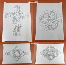 10pcs leather craft carve draw patterns transpa tracing paper template for