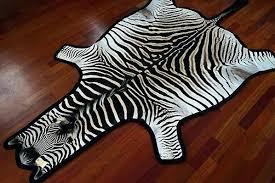 faux zebra skin rug uk felted grade a 3