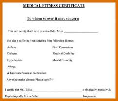 6 7 Sample Medical Certificate From Doctor Formatmemo