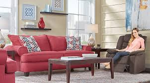 red furniture living room. park square red 2 pc living room furniture