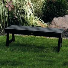 backless outdoor bench white patio 4 ft plastic curved garden tall plans backless outdoor bench