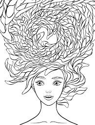 Natural Hair Coloring Pages Crazy Hair Colouring Pages Coloring