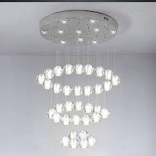 large crystal ball chandelier pendant light modern minimalist creative meteor led ceiling lights