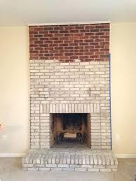 painting fireplace brick brick fireplace painting my brick fireplace white