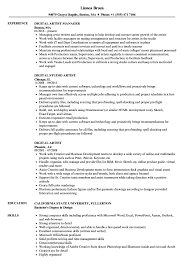 Artist Resume Sample Digital Artist Resume Samples Velvet Jobs 27