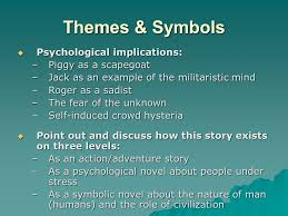 lord of the flies by william golding introductory material ppt 6 themes