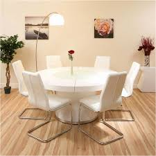 6 seat dining table free round dining set white gloss table plus 6 white chairs lazy