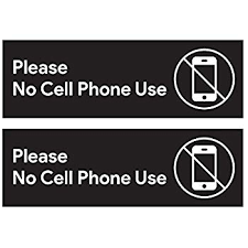 Amazon Com Please No Cell Phone Use Sticker Signs Workplace