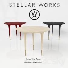 table works 3d models table stellar works lunar side table
