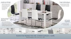 Esstisch Sthle Wei Free Elegant Ingenious Ideas Esstisch Landhaus