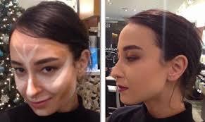 makeup contour before after evening plexion