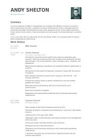 Mba Student Resume samples