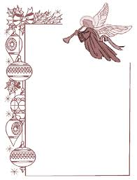 religious easter page borders angel borders frames and
