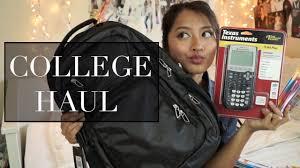 college haul freshman year