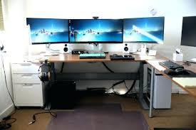 impressive office desk setup. L Shaped Gaming Computer Desk Setup Impressive List Home Office Or Desks E