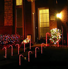 Outdoor Christmas Decorations Candy Canes Amazon Prextex Christmas Candy Cane Pathway Markers Set of 6