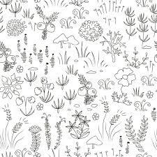 シームレスな北欧花柄 イラストレーションのベクターアート素材や画像を多数ご用意