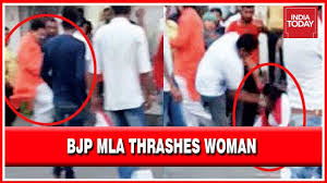 Bjp Mla Thrashing A Woman Caught On Camera Goes Against Pms Beti Bachao Call