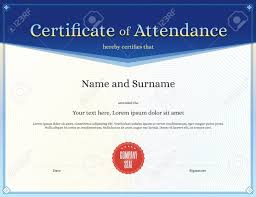 Attendance Certificate Template Free Download Perfect