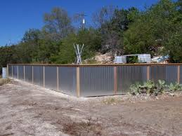 Corrugated Metal Privacy Fence Fence Ideas