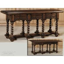 Image Regency Renaissance Solid Oak Fliptop Sofa Tableconsole Inessa Stewarts Antiques Renaissance Solid Oak Fliptop Sofa Tableconsole Inessa Stewarts