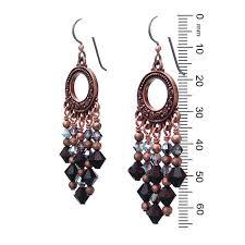 beautiful garnet red chandelier earrings photo inspirations