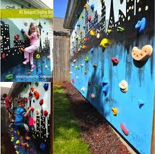 diy outdoor rock climbing wall do it