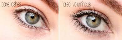 loreal voluminous mascara before and after