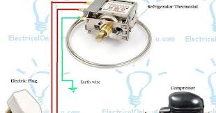 refrigerator fridge thermostat wiring diagram guide electrical Refrigerator Thermostat Wire Colors refrigerator fridge thermostat wiring diagram guide electrical online 4u fridge thermostat wire colours