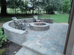gas outdoor firepit modern patio