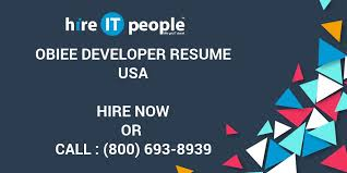Obiee Developer Obiee Developer Resume Hire It People We Get It Done