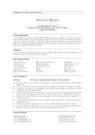 Professional Profile In Resumes Professional Profile Resume Examples Customer Service Of Profiles On