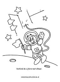 Kleurplaat Astronaut Ruimtevaart Spelletjes