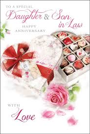daughter & son in law wedding anniversary card amazon co uk Wedding Card Verses For Son And Daughter In Law daughter & son in law wedding anniversary card amazon co uk electronics wedding card messages for son and daughter in law