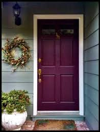 Concept Painted Residential Front Doors Door A Different Color And Wreath Beside For Decorating