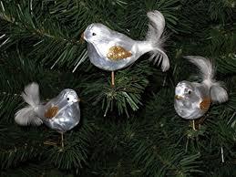 Amazonde 3 Tlg Glas Vogel Set In Ice Weiss Gold